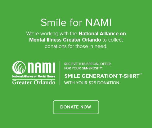 Wesley Chapel Smiles Dentistry - We're working with National Alliance on Mental Illness to collect donations
